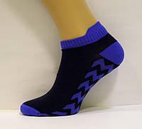 Спортивные короткие мужские носки с цветной резинокой