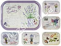 """Поднос раздаточный """"Lavender"""" металл. прямоугольный 40х1,5х28,7см расцветки ассорти (цена за 1шт)"""