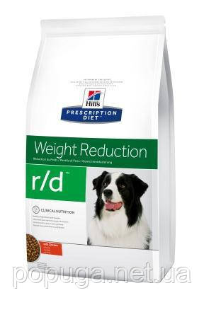 Hill's Prescription Diet r/d Weight Reduction корм для собак с курицей, 1,5 кг