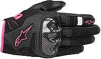 Мотоперчатки женские ALPINESTARS Stella SMX-1 Air V2 кожа/текстиль черный розовый M