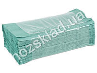 Полотенца бумажные маккулатурные Z-складывания зеленые 160шт 26*30см 389