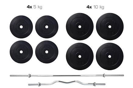 Набір Elitum TITAN 74 кг штанга + лава HS-1070 + пульт (парта) + тяга, фото 2