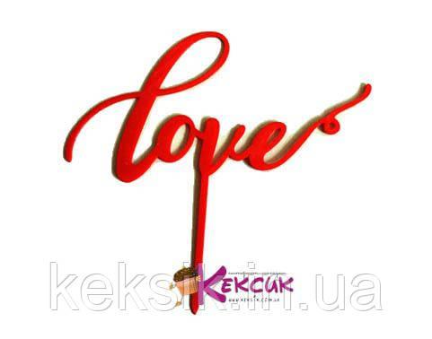 Топпер пластик Love