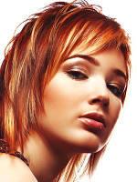 Колорирование волос на фольге с мытьем волос патентованными препаратами до 15 см