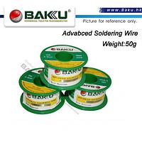 Припой BAKKU проволочный Solder wire BK10002 DIA 0,2mm (50g)