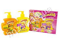 """Подарочный набор детский """"Klyaksa 3"""" (гель для умывание и жидкое крем мыло для тела и лица)"""