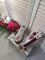 Креативные женские кеды DOLCE & GABBANA Portofino с принтом (реплика), фото 1