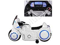 Мотоцикл 2 мотора 35W, аккумулятор 12V/7AH, ручка газа, кожаное сидение, белый