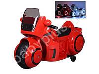 Мотоцикл 2 мотора 35W, аккумулятор 12V/7AH, ручка газа, кожаное сидение, красный