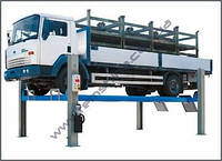 Электрогидравлически 4-х стоечные подъемники с плоскими платформами для грузовых автомобилей RAV4800