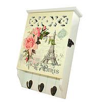 """Настенная ключница """"Париж"""" Размеры:31-20-6см"""