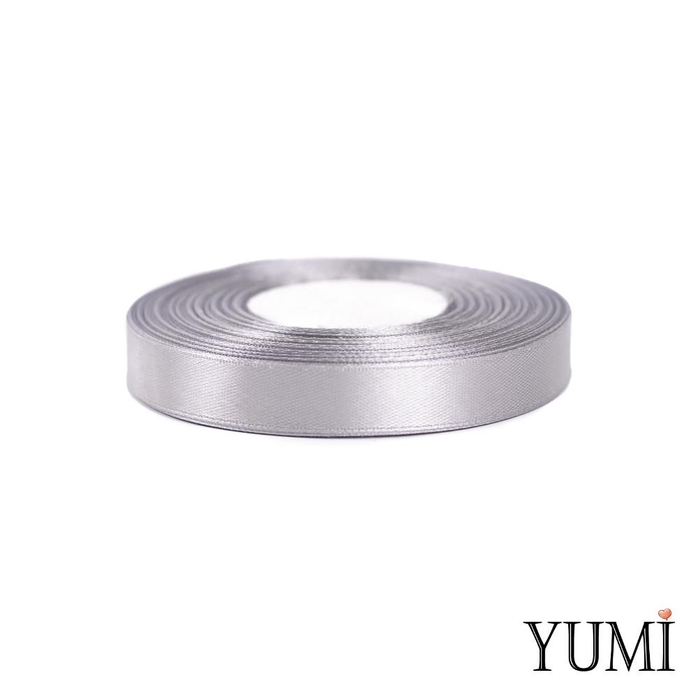 Лента (тесьма) атласная (сатин) 12 мм СЕРАЯ 8139