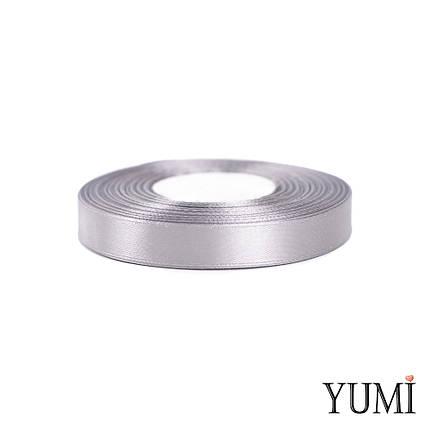 Лента (тесьма) атласная (сатин) 12 мм СЕРАЯ 8139, фото 2