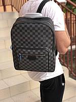 Крутой мужской рюкзак Louis Vuitton JOSH натуральная кожа (реплика)