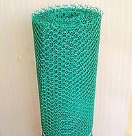 Заборы садовые , сетки пластиковые. Ромб. Ячейка 20х20 мм, рул. 0.5х30 м (темно-зеленая).