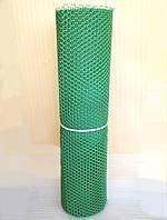 Заборы садовые , сетки пластиковые. Ромб. Ячейка 20х20 мм, рул. 0.8х30 м (темно-зеленая).