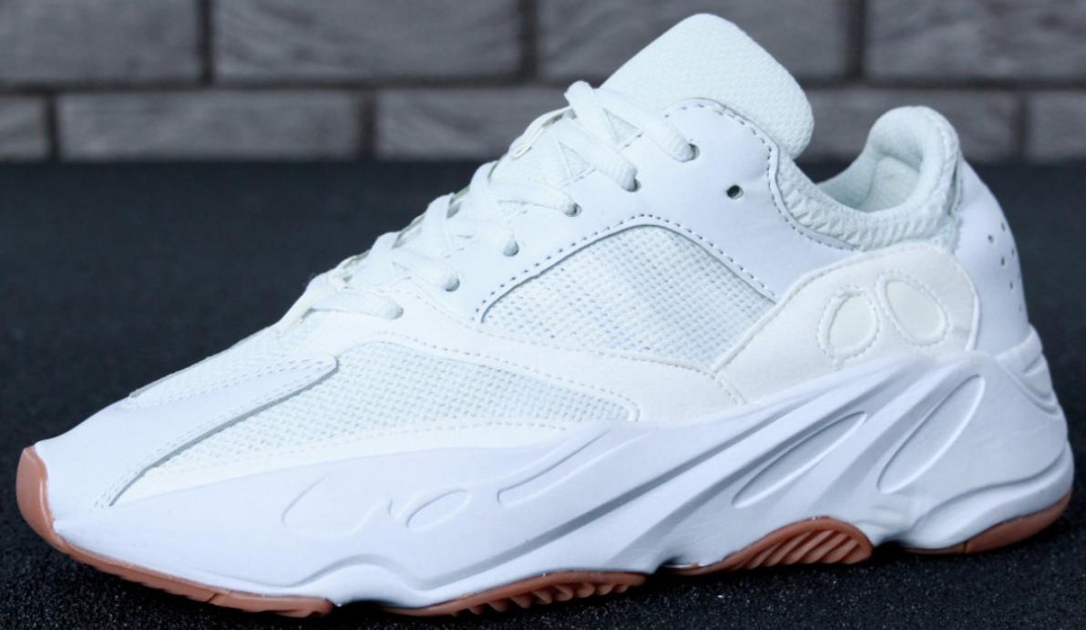 Мужские кроссовки Adidas Yeezy Boost 700 Wave Runner White, адидас изи буст 700 белые