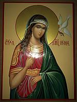 Икона писаная Святая Ирина