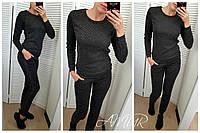Женский стильный ангоровый костюм-двойка брюки и свитер, фото 1
