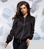 Демисезонная замшевая куртка с резинками 816723