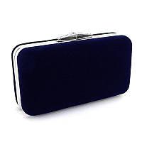 97eec1a88a3e Клатч сумочка вечерняя женская велюровая синяя Rose Heart 1752, цена ...