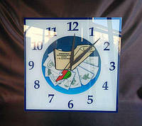 Часы с логотипом школы 500х500 мм