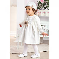 Комплект платье шапочка болеро молочный WB006 Krasnal