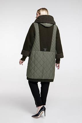 Зимнее пальто теплое очень с каракулем размер от 54 до 68, фото 2