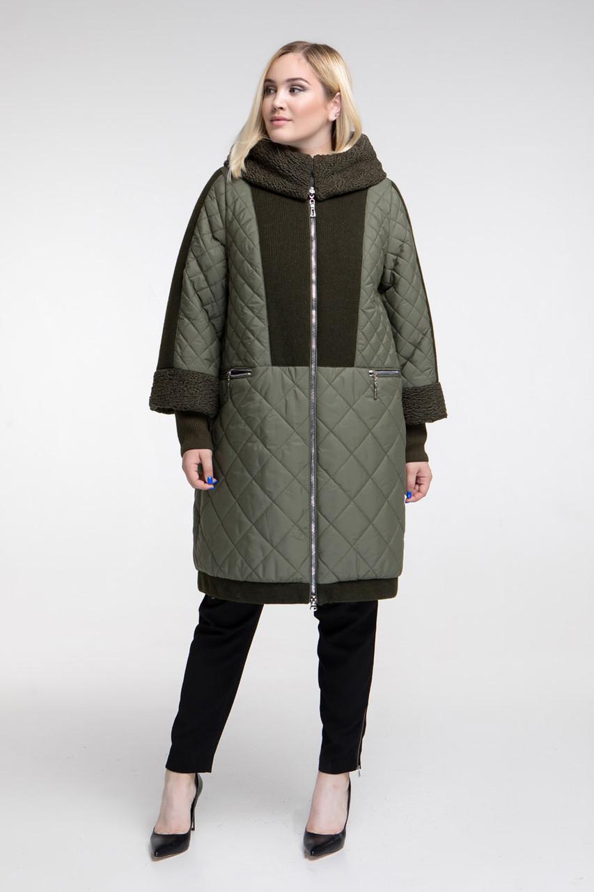 Зимнее пальто теплое очень с каракулем размер от 54 до 68