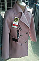 Демисезонное пальто для девочки  Цвет Пудра Размеры 122- 158, фото 2