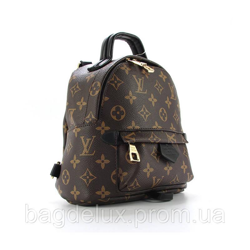 acd3104b42e4 Рюкзак-сумка средний коричневый экокожа Louis Vuitton 8888m - Bag De Lux - Интернет  магазин
