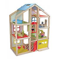 Кукольный домик с подъемником и мебелью. MD2462 Melissa&Doug