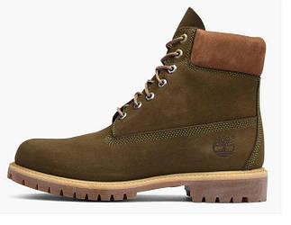 """Женские зимние ботинки Timberlad Nubuck """"Brown""""  (люкс копия)"""