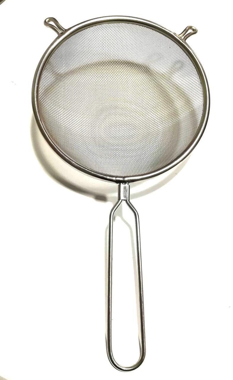 Сито кухонное с ручкой нержавеющая сталь Super 22 см