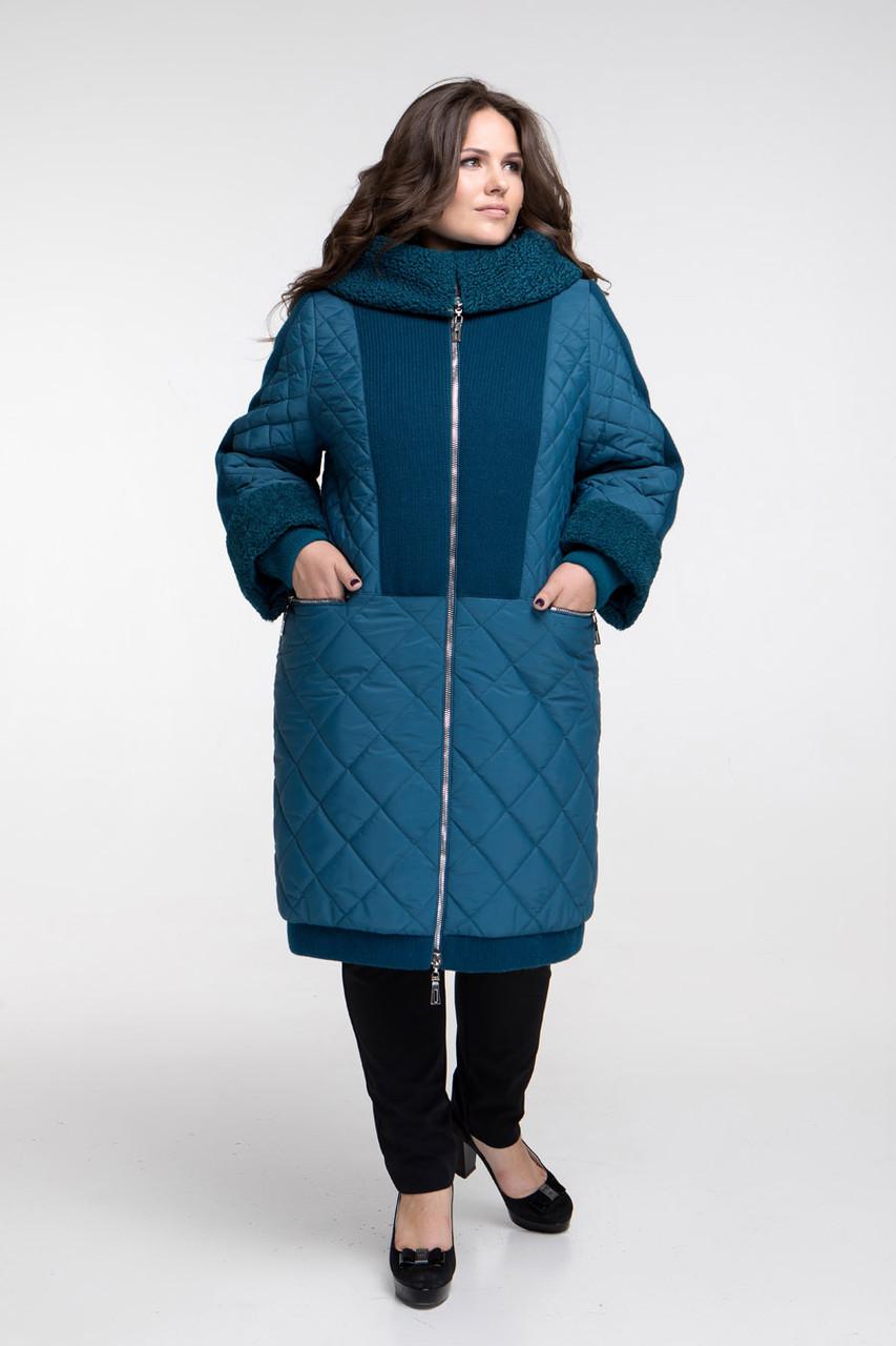 Зимнее пальто каракуль большой размер от 54 до 68
