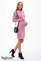 Облегающее платье для беременных и кормящих Marika р. 44,46,48 ТМ Юла Мама Розовый меланж DR-48.153