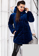 Теплая велюровая курточка с капюшоном 12363, фото 1