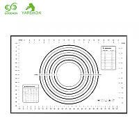 Силиконовый коврик для раскатки теста и приготовления кондитерских изделий, размер 40*60, черного цвета