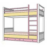 Кровать двухъярусная Rose Dreams ваниль/роз/беж 110605