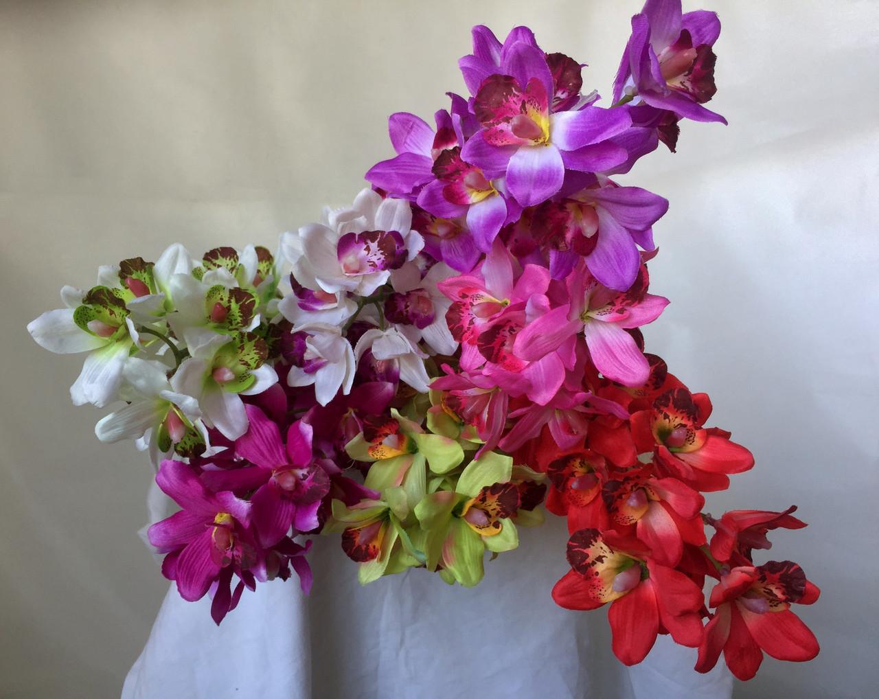 Искусственная орхидея ветка, Орхидея Цимбидиум