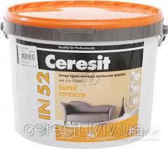 CERESIT IN 52 SUPER Інтер'єрна матова латексна фарба 15кг