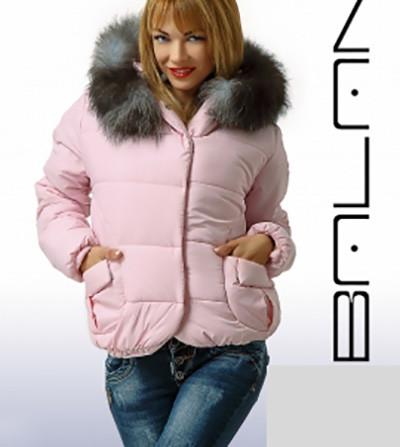 Весеннее-осенняя курточка капюшон с мехом 85720