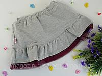 Юбка для девочек Серый Трикотаж ЮБ83 Бэмби Украина 9 лет, 68 см, 140 см