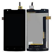 Дисплей для Lenovo A1000 IdeaPhone + touchscreen, черный, Onyx Black