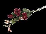 Искусственная роза ветка 2 головы и бутон, фото 3