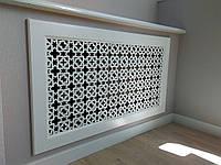 Декоративная решетка на нишу батареи отопления Экран (фасад) R19-F60 белый, фото 1