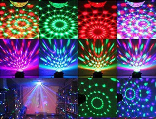 Проектор звездного неба вращающийся Диско-шар Mini Party Light- 9 режимов.