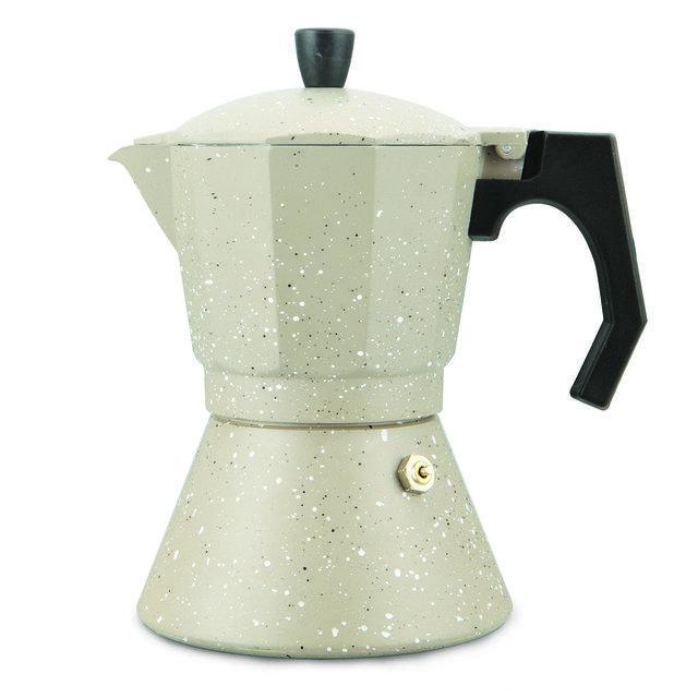 Кофеварка гейзерная Kamille на 6 чашек (300 мл) из алюминия с широким индукционным дном