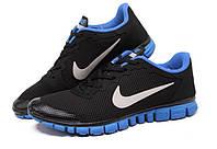 Кроссовки мужские Nike Free 3.0 V2 Black Blue черно синие, фото 1
