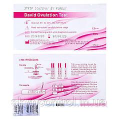 Тест смужки на овуляцію David Ovulation Test 10 мл / мл 10шт. LH упаковка 10шт.